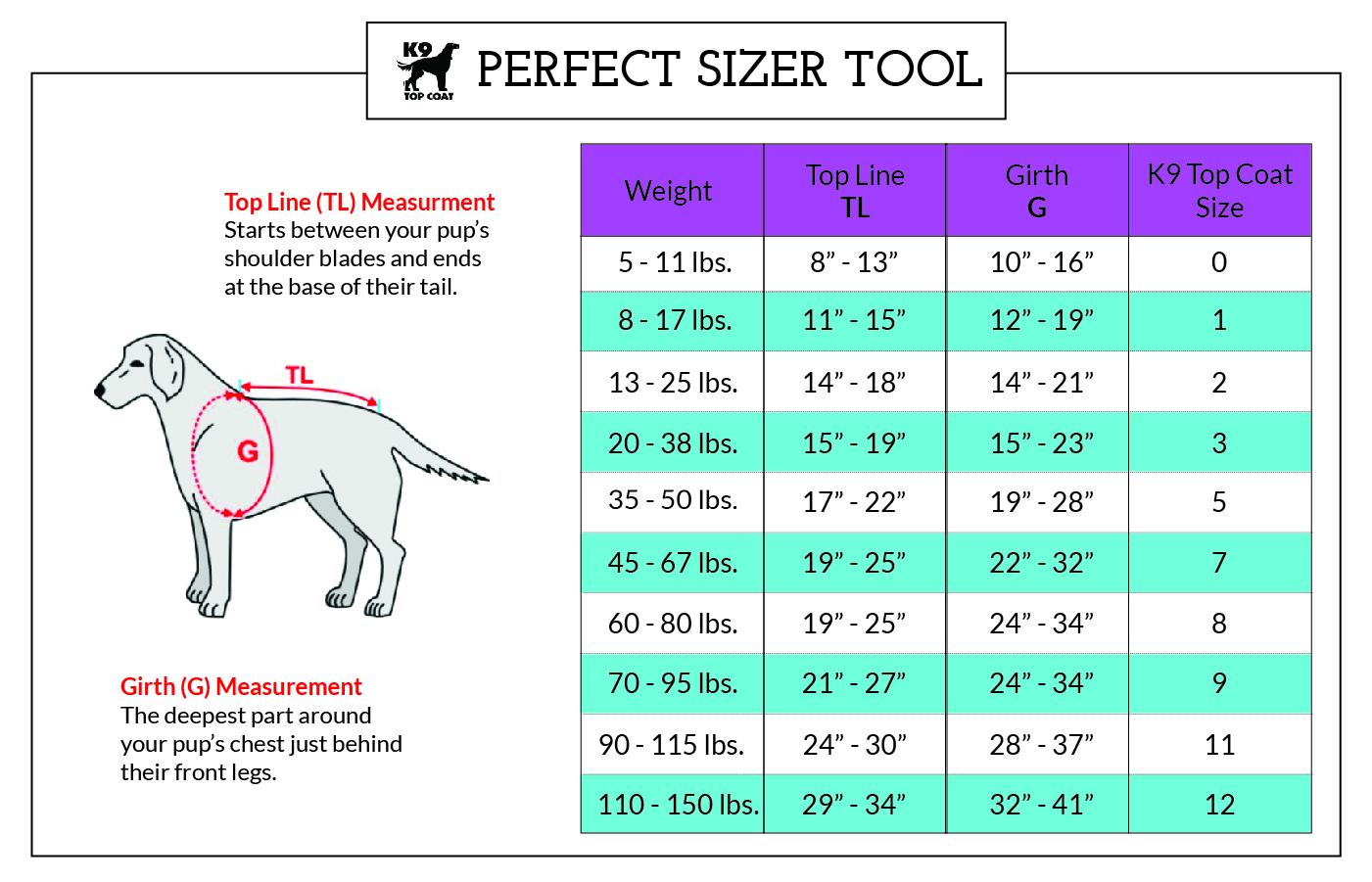 New-K9-Size-Chart