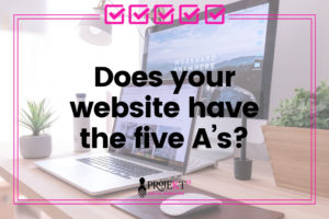 Does your website have the five A's hero