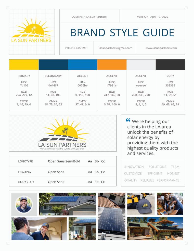 LA Sun Brand Style Guide