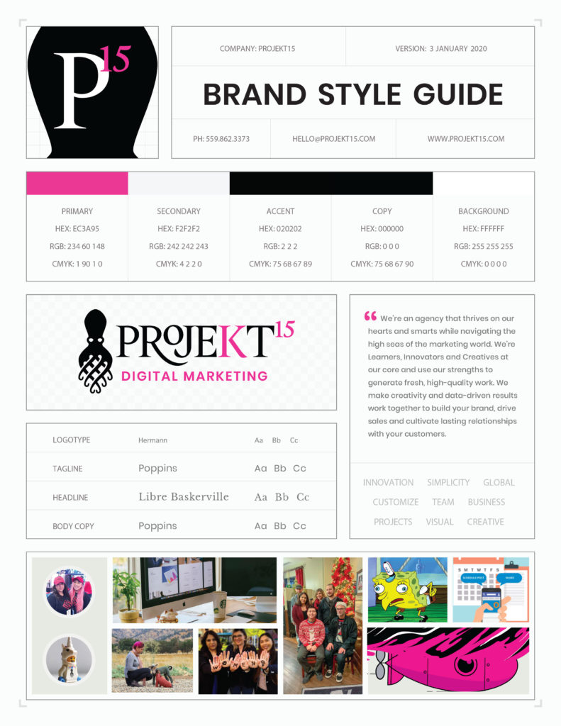 p15 One Page Branding Style Guide small